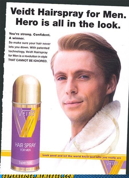 Ad hair spray hero Superhero IRL watchmen wtf - 4894669568