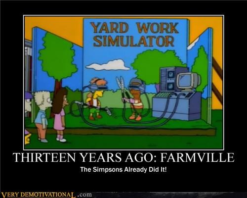 Farmville,hilarious,simpsons,video games,yard work