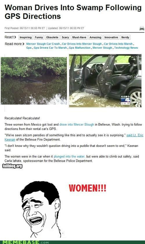car directions driving gps Rage Comics sexism women - 4895319552