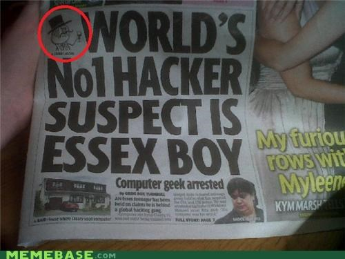 hacker,lulzsec,Memes,newspaper,troll