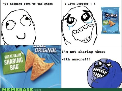 chips,i lied,Rage Comics,sharing