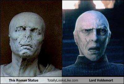 Harry Potter,Lord Voldemort,ralph fiennes,roman statue,rome,statues