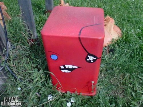 electrical box,graffiti,hacked irl,pirates