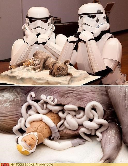 cake,fondant,luke skywalker,star wars,stormtrooper,tauntaun