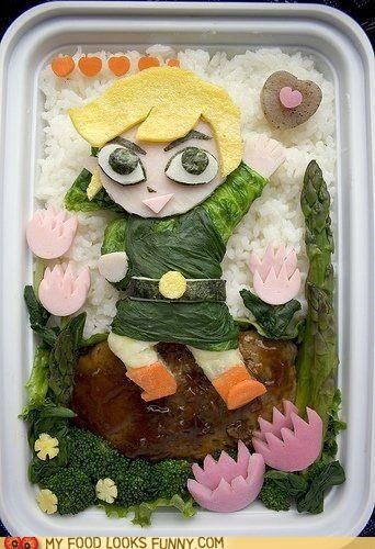 bento decorated egg lunch meal meat rice veggies - 4896038400