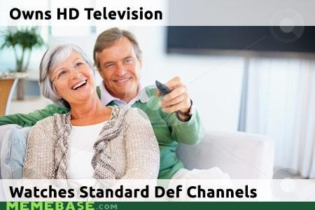 channels hd Memes old people standard def TV