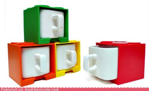 blocks boxes cups Duplo lego mugs stacking