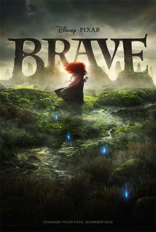 brave,movie poster,pixar