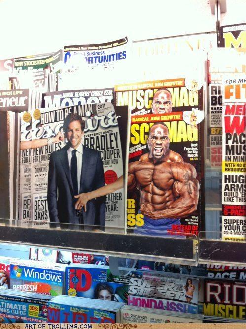 bradley cooper IRL magazines that looks naughty