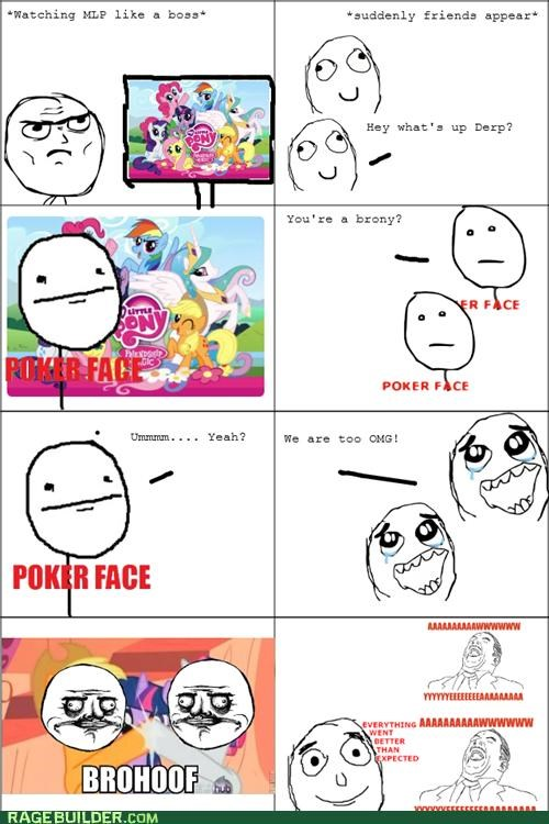 brohoof Bronies brony my little pony Rage Comics - 4896570880