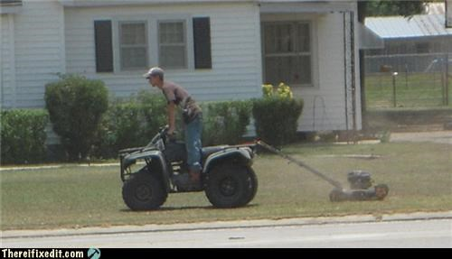 atv chores dual use lawnmower