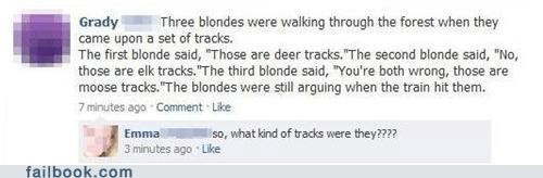 blonde facepalm joke stupid