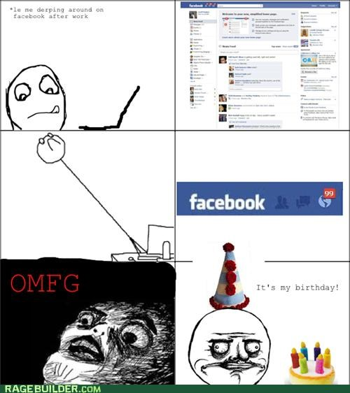 birthday,facebook,notifications,Rage Comics