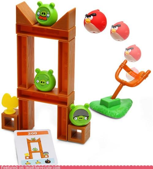 angry birds birds board game build game pig slingshot - 4896986880