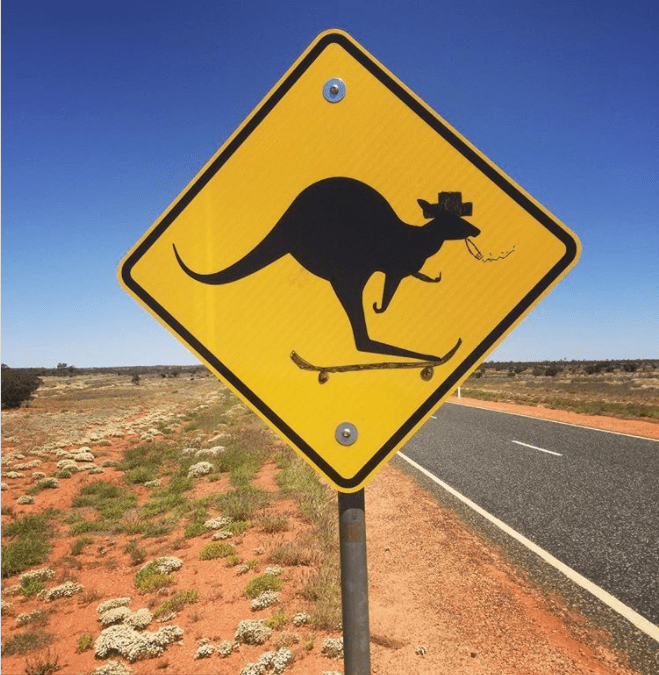 animal signs in australia