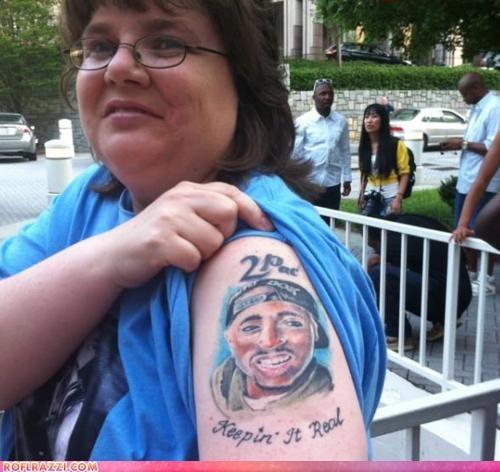 FAIL funny tattoo tupac - 4897112320