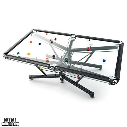 clear design glass pool table snooker transparent