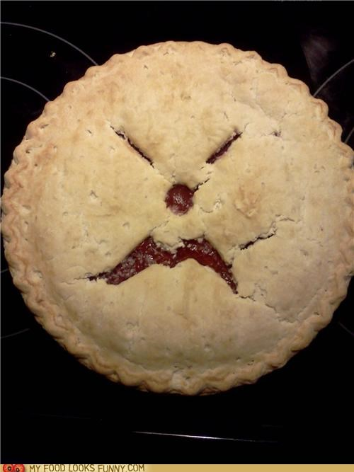 angry face grumpy mad pie yelling - 4897338368