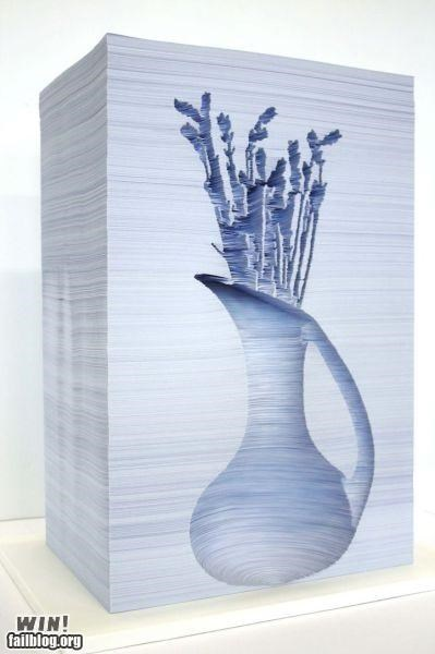art awesome carved pages paper - 4898257152