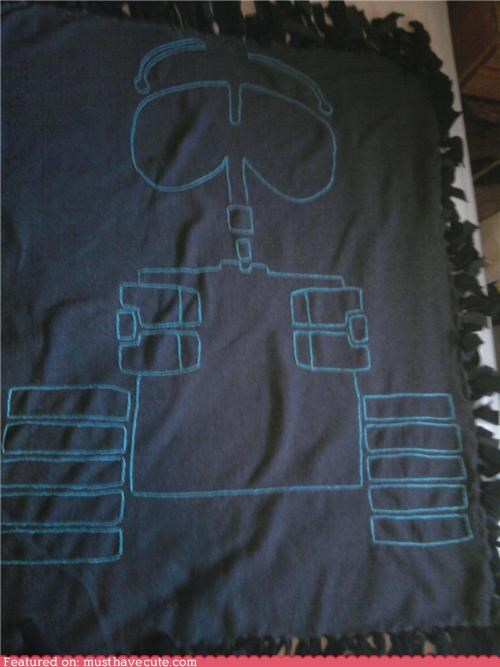 blanket,embroidered,fleece,grey,throw,wall.e