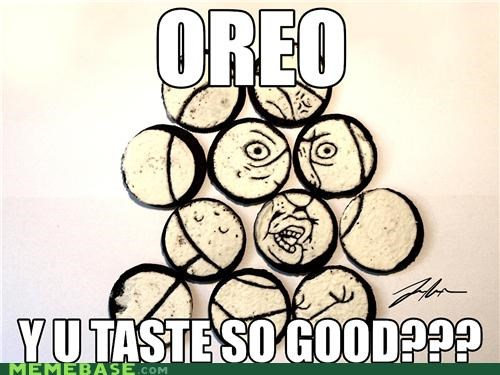 delicious,food,IRL,oreo,Y U No Guy