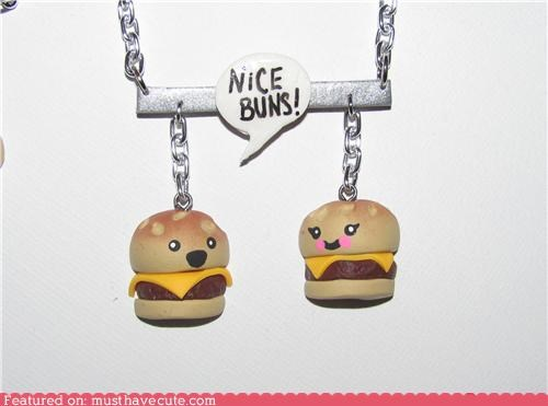 accessories cheeseburgers compliment conversation Jewelry necklace pick-up line - 4899024128