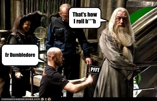 ____ PFFT ____ Er Dumbledore That's how I roll b***h