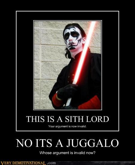 NO ITS A JUGGALO Whose argument is invalid now?