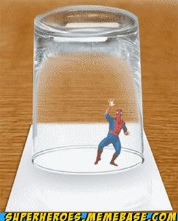 awesome caught glass Random Heroics Spider-Man - 4899360256