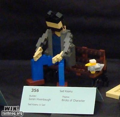 Sad Keanu in Lego form!
