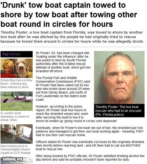 alcohol drinking failboat g rated headline oh florida Probably bad News