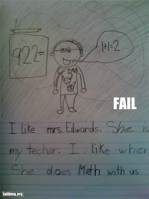 drugs failboat g rated kids meth school spelling - 4899478272