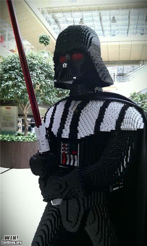 darth vadar legos star wars statue
