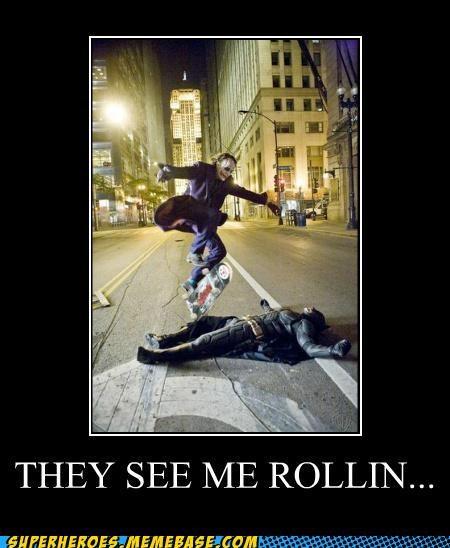 batman hatin joker rollin skateboarding Super-Lols - 4899543808