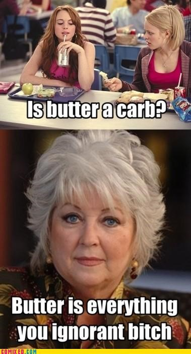 butter,lindsay lohan,mean girls,paula deen,TV