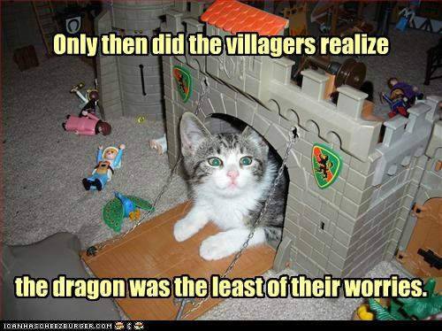 Only then did the villagers realize the dragon was the least of their worries.