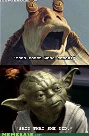jar jar binks,star wars,thats what she said,the office,yoda