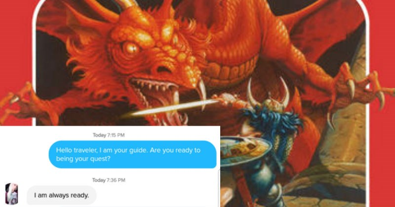 Smooth Dungeons & Dragons Tinder Convo