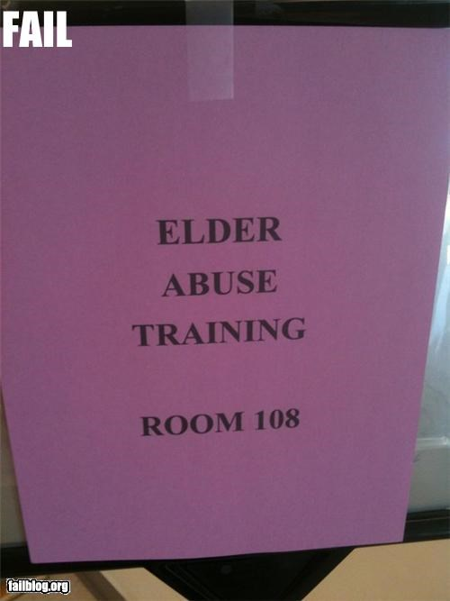 abuse class english failboat geriatric g rated old people signs wording - 4900002560