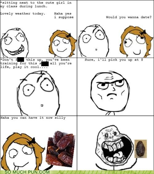 answer comic date derp double meaning forever alone literalism misunderstanding question rage comic Rage Comics - 4900065792