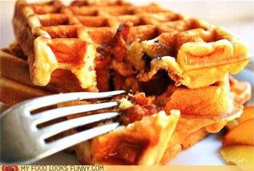 bacon breakfast hidden surprise waffles