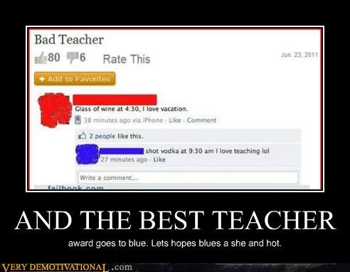 award blue hilarious teacher