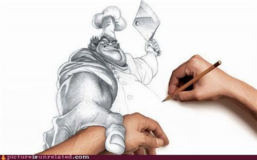 arm,art,chef,drawing,hand,wtf