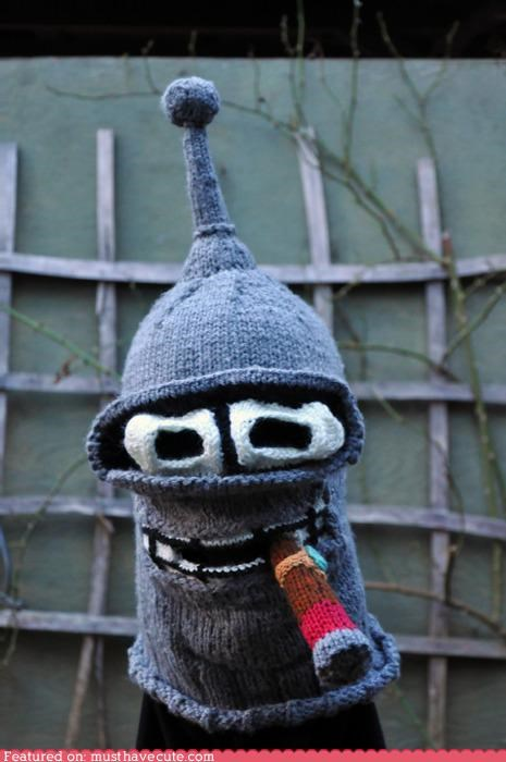 balaclava bender cigar futurama hat mask pattern