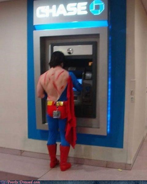 ATM,cosplay,costume,scratches,superman