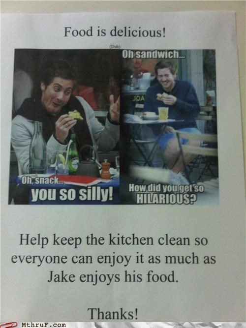 breakroom jake gyllenaal kitchen meme Office - 4900362496