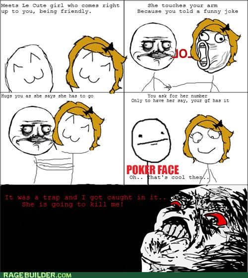 Awkward,girls,Rage Comics,trap