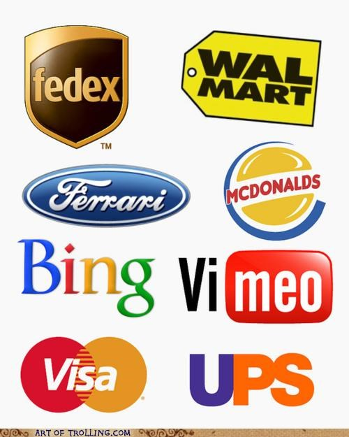 bing fed ex ford google logos master card UPS visa wal mart - 4900670720