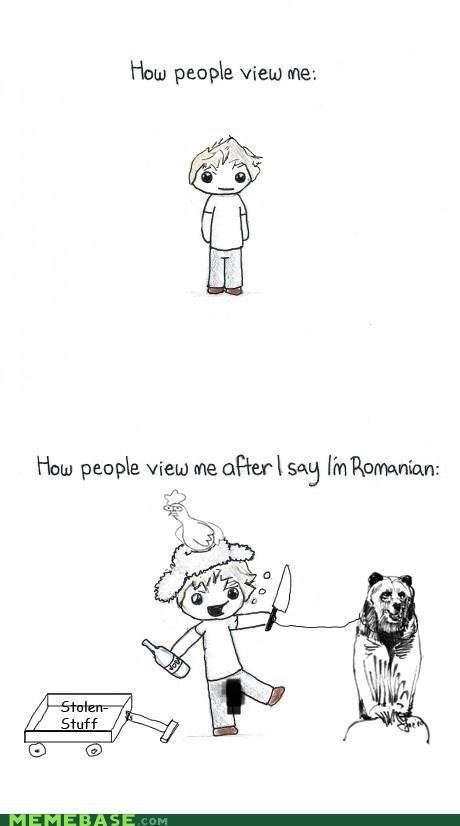 at first,bears,chicken,countries,Memes,romania