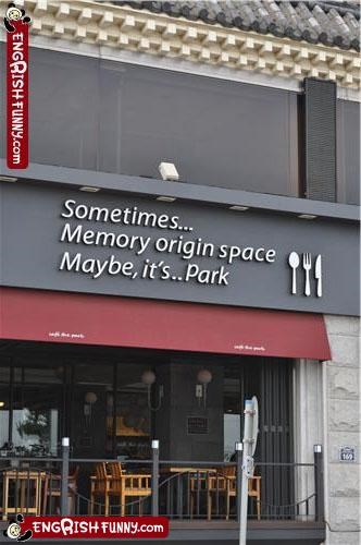 park,restaurant,sign